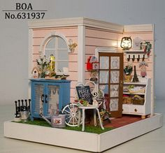 New Arrive Diy Dollhouse  Gindy's Happy HourHandmade Assembled Model Building Kits Birthday Gifts Female Doll House Toy $26.05