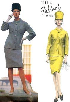 negli anni ' 60 FABIANI elegante tuta Mod modello Vogue Couturier progettare 1481 Ultra sottile gonna Fab più giacca Vintage Sewing Pattern busto 34 di SoVintageOnEtsy su Etsy https://www.etsy.com/it/listing/214220664/negli-anni-60-fabiani-elegante-tuta-mod