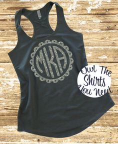 Preppy Monogrammed Tank Top Next Level by owltheshirtsyouneed