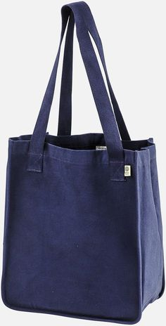 – Open main compartment – Organic cotton web handles Size: x x handle length Shopping Totes, Reusable Shopping Bags, Bag Patterns To Sew, Tote Pattern, Reversible Tote Bag, Eco Friendly Bags, Fabric Bags, Woven Fabric, Denim Bag