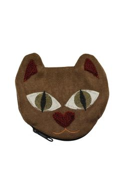 Made with recycled materials this super soft and cute suede-like kitty coin pouch also helps to raise money for the protection of stray animals in Colombia. It is large enough to fit cards and even your favorite lipstick!  Measures approximately 4.5'' x 4.5''  Kitty Coin Pouch by Currucutu. Bags - Wallets & Wristlets Montreal Canada