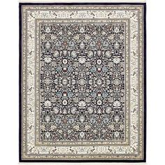 Charlton Home Courtright Navy Blue/Tan Area Rug Rug Size: 10' x 13'