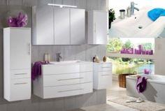 Das 5tlg Badezimmer Set in der Ausführung Hochglanz - weiss lässt keine Wünsche offen. Das moderne Design sowie die gut durchdachten Funktionen werden Sie sehr schnell überzeugen.