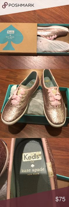 Brand new pink Kate spade keds Brand new pink sequin keds for Kate spade New York! kate spade Shoes Sneakers