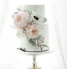 Wedding cake.  Brief was peonies, anemonies and succulents.  Link for peony tutorial is in profile :-) #wedding #weddingcake #nzwedding #newzealandwedding #lesleamatsiscakes #cake #love #peony #peonies #sugarpeonies #gumpastepeonies #pinkpeonies #sugarflowers #instacake #cakestagram #cakesofinstagram #roughiced #cakeart #cakedecorating #marbleweddingcake #flowertutorial #learncakedecorating #peonytutorial Shabby Chic Cakes, Pink Peonies, Peony, Sugar Flowers, Flower Tutorial, Gum Paste, Cake Art, Cake Decorating, Wedding Cakes