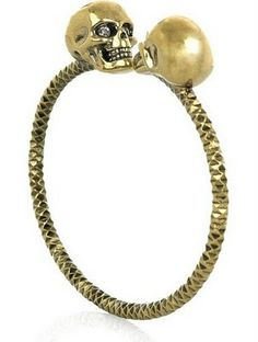 Crystal Skull Bangle  Alexander Mc Queen