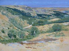Ruben de Luis | Oil painting landscape: a valley of Miraflores de la Sierra. Madrid. Spain