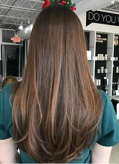 My hair is currently about this long but with no layers, cut straight. I'm getting married in a month. Is the attached cut better for stylists to work with, or will it not matter? Haircuts For Long Hair Straight, Brown Straight Hair, Haircuts For Medium Hair, Long Brown Hair, Long Straight Layers, Brown Layered Hair, Long Textured Hair, Natural Straight Hair, Long Brunette Hair