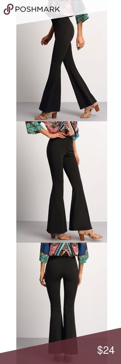 NWOT Black Flare Pants Size small black flare pants, so cute! I have another pair just like this so I have never worn these but they look amazing on. Pants Boot Cut & Flare