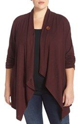 One-Button Fleece Cardigan | Fleece cardigan, Plus size and Cardigans