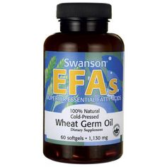 Buy Swanson EFAs Natural Cold-Pressed Wheat Germ Oil 60 Softgels - Nutritional Supplement for sale in Online supplement store megavitamins in Melbourne, Sydney & across Australia. Supplements For Hair Loss, Supplements Online, Great Lakes Gelatin, Wheat Germ, Caramel Color, Essential Fatty Acids, Nutritional Supplements, Calorie Diet, Health And Beauty