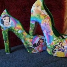 Disney Princess High Heel Shoes | Details about Disney Princess Women High Heels Any Size/design!! 3/4/5 ...