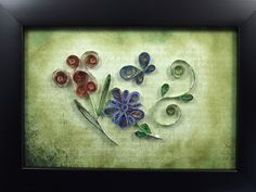 Quilled Flowers using Vintage Book Pages £8.00