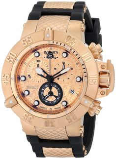 Gold watches : Invicta Men's 15806 Subaqua Analog Display Swiss Quartz Black Watch