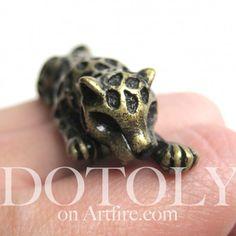 $12.50 3D Adjustable Leopard Ring