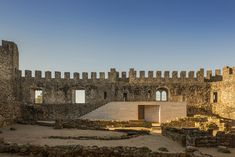 Pombal Castle Visitor Centre, Portugal – comoco arquitectos designed a visitor centre for the castle's ward, including the landscape design of the area. Medieval Fortress, Medieval Castle, Map Architects, Portugal, Time And Weather, Adaptive Reuse, Exterior, Built Environment, Contemporary Architecture