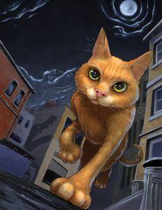 Firestar on his way through the Twolegplace.