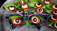 Eyeball Caprese Salad in Bat Glasses
