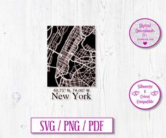 New York City Road Map Digital Download Decal by JumbleinkDesign on Etsy City Road, City Maps, Paper Cutting, Decals, Handmade Items, New York, Templates, Digital, Etsy