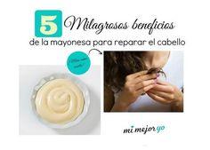 5 Milagrosos beneficios de la mayonesa para reparar el cabello