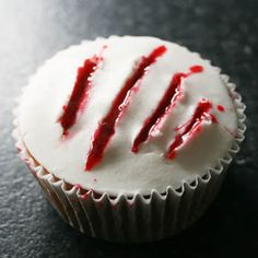 Making the edible blood to create these slash marks takes a little time, but the effort is well worth it for the creepy effect. Get the recipe at Talking Trash & Wasting Time. RELATED: 25 DIY Kids' Halloween Costumes That Are So Cute You'll Want to Cry