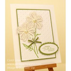 Friday Card Inspiration  (3 of 3) Flower Shop & Field Flowers Nice sympathy or even baby shower card Carol Lovenstein - Stampin' Up!