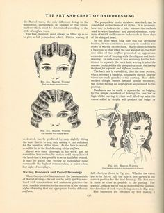 Antique Books and Old Collectible Things: 1920's Hairdressing Book - FREE Vintage Hair Dressing Instructions