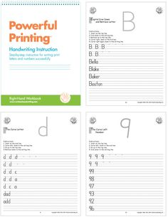 Print Instruction: students learn letters grouped by the initial pencil stroke (for example the curve group consists of c, a, d, g, o, q, s); lower case letters are taught first, followed by upper case letters and then numerals #handwriting #print