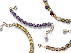 dolce-and-gabbana-jewellery-gold-bracelets-smoky-quartz-citrines-garnet-gems-amethysts