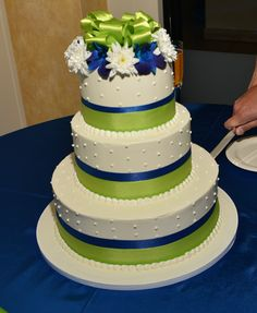 lime green and blue wedding cakes royal blue and lime green wedding cake destiny 16894