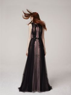 Black & Lilac Lady Gown @BASILSODAWorld Basil Soda Spring Summer 2013 #Couture #Fashion