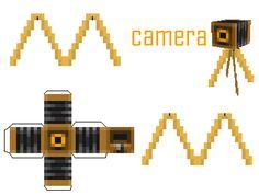 Minecraft camera (pocket edition) printable