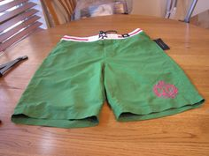 Men's swim trunks shorts Tommy Hilfiger NEW XL green $59.50 7812443 mesh inside #TommyHilfiger #Trunks