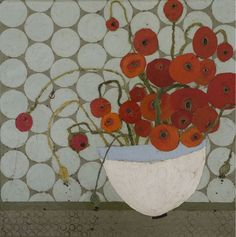 around-and-around poppies, by karen tusinski