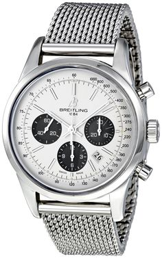 Amazon.com: Breitling Men's AB015212/G724SS Transocean 01 Silver Dial Watch: Breitling: Clothing