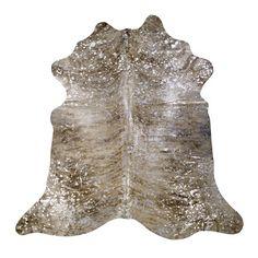 Saddlemans Devore Hand-Woven Metallic Light Brindle Tan Area Rug