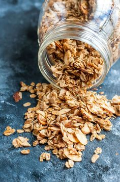 Skip the store-bought granola and whip some up at home using ingredients already in your pantry! This healthy homemade granola recipe is super easy to make!