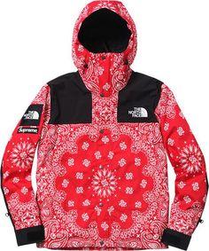 Supreme X North Face Red Bandana Jacket