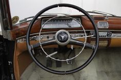 Sit behind the wheel of our 1958 Mercedes-Benz Cabriolet. Same owner for the last 30 years. Mercedes Benz Interior, Mercedes Benz 220, Daimler Benz, Steering Wheels, Classic Mercedes, Maybach, Car Shop, Airstream, 30 Years