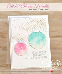nice people STAMP!: Stitched Shapes Framelits Christmas Cards: Stampin' Up! Artisan Blog Hop