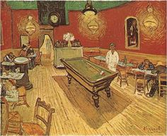 the Night Cafe in the Place Lamartine in Arles - Vincent van Gogh Painting, Oil on Canvas Arles: September, 1888 Yale University Art Gallery New Haven, Connecticut Art Van, Van Gogh Art, Vincent Van Gogh, Rembrandt, Painting Frames, Painting Prints, Art Prints, Painting Art, Canvas Frame