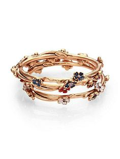 ODLR's beautiful floral bangles.