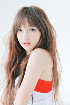 Cheng Xiao of Cosmic Girls  She has such delicate facial features and flawless pale skin, she looks just like a pretty porcelain doll!