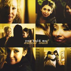 Caroline and Elena and Bonnie from season 2
