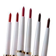 1 PS Marca Delineador de Lábios Rotativo Automático Long-lasting Makeup Natural Sexy Produtos Lipliner Senhora À Prova D' Água Beleza Lábio Vermelho lápis