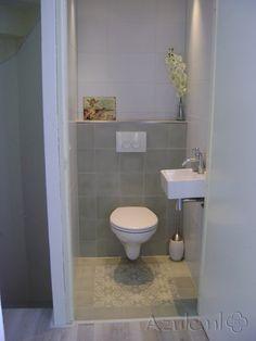 Mooi voorbeeld wc tegels wc pinterest kleur - Voorbeeld deco wc ...