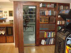 Hidden Door Hardware Design Ideas, Pictures, Remodel, and Decor Hidden Door Bookcase, 4 Shelf Bookcase, Library Bookshelves, Bookcases, Secret House, Safe Room, Sliding Barn Door Hardware, Door Latches, Door Hinges