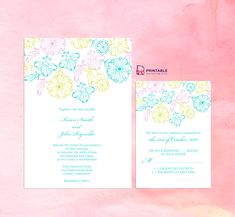 2016 Spring Blooms – Wedding Invitation and RSVP Set ← Printable Invitation Kits