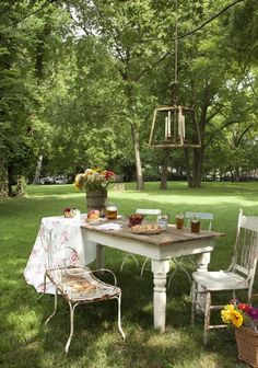 outdoor dinner party?