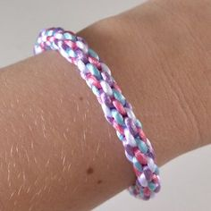 8-Cord Kumihimo Bracelet Tutorial
